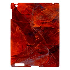 Swirly Love In Deep Red Apple Ipad 3/4 Hardshell Case
