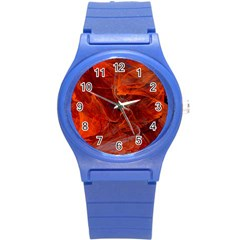 Swirly Love In Deep Red Round Plastic Sport Watch (s)