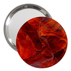 Swirly Love In Deep Red 3  Handbag Mirrors