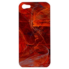 Swirly Love In Deep Red Apple Iphone 5 Hardshell Case