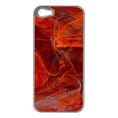 Swirly Love In Deep Red Apple Iphone 5 Case (silver)