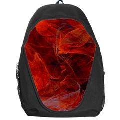 Swirly Love In Deep Red Backpack Bag