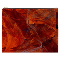 Swirly Love In Deep Red Cosmetic Bag (xxxl)