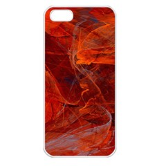 Swirly Love In Deep Red Apple Iphone 5 Seamless Case (white)