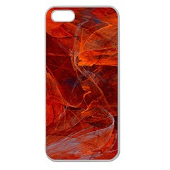 Swirly Love In Deep Red Apple Seamless Iphone 5 Case (clear)