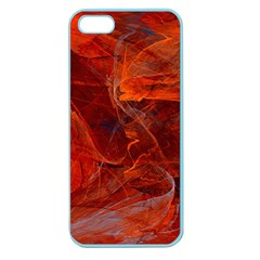 Swirly Love In Deep Red Apple Seamless Iphone 5 Case (color)