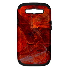 Swirly Love In Deep Red Samsung Galaxy S Iii Hardshell Case (pc+silicone)