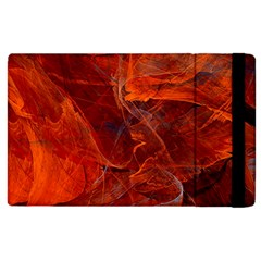 Swirly Love In Deep Red Apple Ipad 3/4 Flip Case