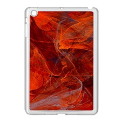 Swirly Love In Deep Red Apple Ipad Mini Case (white)