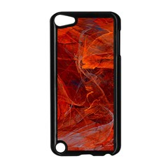 Swirly Love In Deep Red Apple Ipod Touch 5 Case (black)