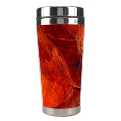 Swirly Love In Deep Red Stainless Steel Travel Tumblers by designworld65