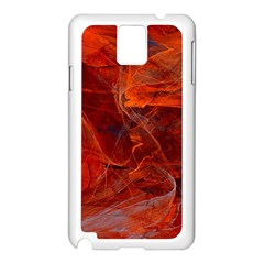 Swirly Love In Deep Red Samsung Galaxy Note 3 N9005 Case (white) by designworld65