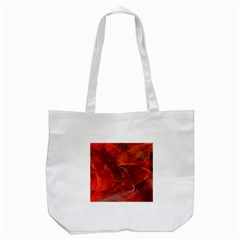 Swirly Love In Deep Red Tote Bag (white)