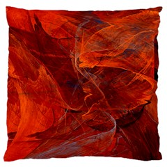 Swirly Love In Deep Red Standard Flano Cushion Case (two Sides) by designworld65