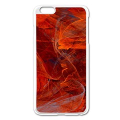 Swirly Love In Deep Red Apple Iphone 6 Plus/6s Plus Enamel White Case by designworld65
