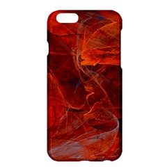 Swirly Love In Deep Red Apple Iphone 6 Plus/6s Plus Hardshell Case by designworld65