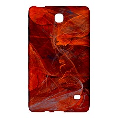 Swirly Love In Deep Red Samsung Galaxy Tab 4 (8 ) Hardshell Case  by designworld65