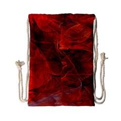 Swirly Love In Deep Red Drawstring Bag (small) by designworld65