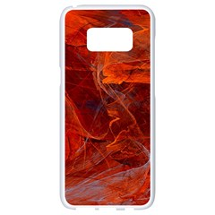 Swirly Love In Deep Red Samsung Galaxy S8 White Seamless Case