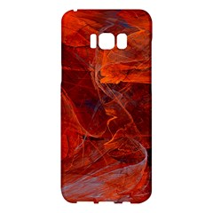 Swirly Love In Deep Red Samsung Galaxy S8 Plus Hardshell Case
