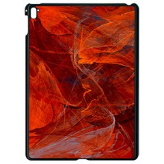 Swirly Love In Deep Red Apple Ipad Pro 9 7   Black Seamless Case