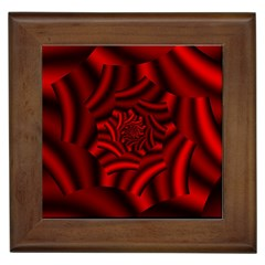 Metallic Red Rose Framed Tiles
