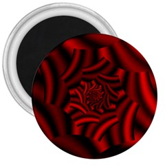 Metallic Red Rose 3  Magnets