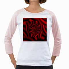 Metallic Red Rose Girly Raglans