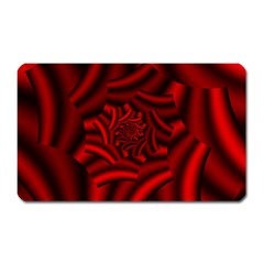 Metallic Red Rose Magnet (rectangular) by designworld65