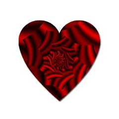 Metallic Red Rose Heart Magnet