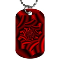 Metallic Red Rose Dog Tag (two Sides)