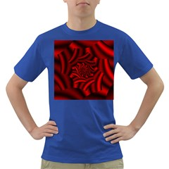 Metallic Red Rose Dark T Shirt