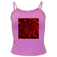 Metallic Red Rose Dark Spaghetti Tank