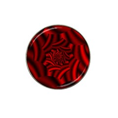 Metallic Red Rose Hat Clip Ball Marker
