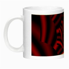 Metallic Red Rose Night Luminous Mugs
