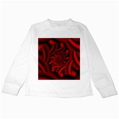 Metallic Red Rose Kids Long Sleeve T Shirts