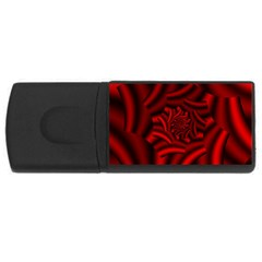 Metallic Red Rose Rectangular Usb Flash Drive