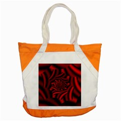 Metallic Red Rose Accent Tote Bag