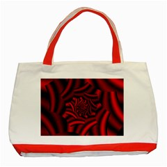 Metallic Red Rose Classic Tote Bag (red)