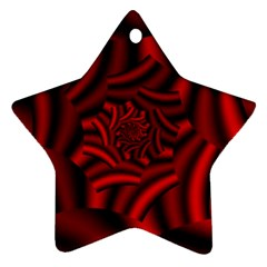Metallic Red Rose Star Ornament (two Sides)