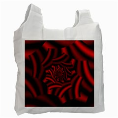 Metallic Red Rose Recycle Bag (two Side)  by designworld65