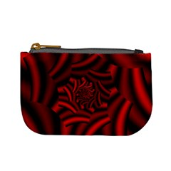 Metallic Red Rose Mini Coin Purses