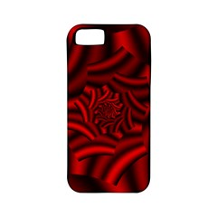 Metallic Red Rose Apple Iphone 5 Classic Hardshell Case (pc+silicone) by designworld65