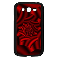 Metallic Red Rose Samsung Galaxy Grand Duos I9082 Case (black) by designworld65