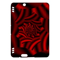 Metallic Red Rose Kindle Fire Hdx Hardshell Case by designworld65