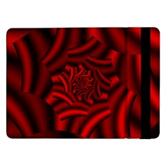 Metallic Red Rose Samsung Galaxy Tab Pro 12 2  Flip Case by designworld65