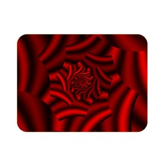 Metallic Red Rose Double Sided Flano Blanket (mini)  by designworld65