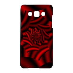Metallic Red Rose Samsung Galaxy A5 Hardshell Case  by designworld65