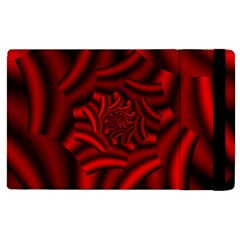 Metallic Red Rose Apple Ipad Pro 12 9   Flip Case by designworld65