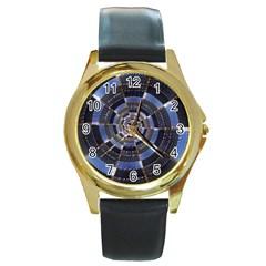 Midnight Crazy Dart Round Gold Metal Watch by designworld65